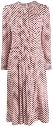 Escada Square-Print Shirt Dress