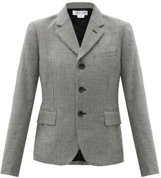 Comme des Garçons Comme des Garçons Houndstooth Wool-blend Jacket - Black White