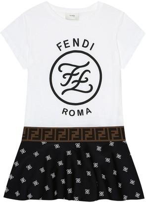 Fendi Kids Logo dress