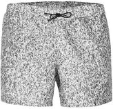 Topman Grey Granite Effect Swim Shorts