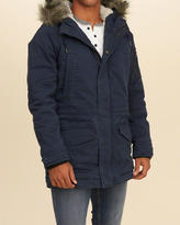 Hollister Sherpa Lined Twill Parka