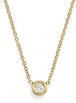 Zoë Chicco 14K Yellow Gold Choker with Diamond Pendant, 14