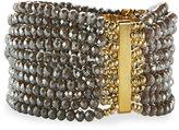Nakamol Multi-Row Crystal Stretch Bracelet, Neutral Mix