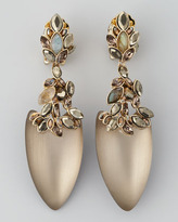 Alexis Bittar Neo Boho Faceted Marquise Dangle Clip Earrings
