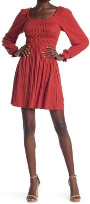 Kenedik Smocked Bust Pointelle Knit Dress