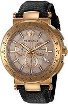 Versace Men's VFG110015 Mystique Sport Analog Display Quartz Brown Watch