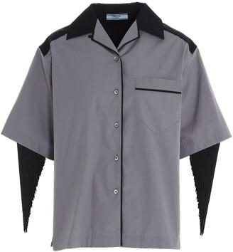 Prada Fringed Short-Sleeve Shirt
