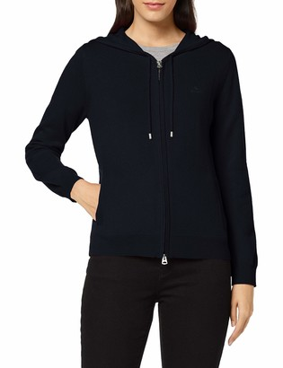 Gant Women's SUPERFINE LAMBSWOOL ZIP HOODIE Hooded Sweatshirt