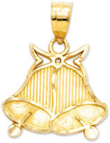 Macy's 14k Gold Charm, Wedding Bells Charm