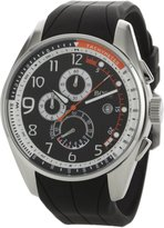 HUGO BOSS Men's 1512366 HB229 Chronograph Black Dial Black Rubber Watch