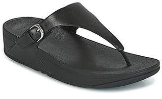 FitFlop SKINNY TOE-THONG women's Flip flops / Sandals (Shoes) in Black