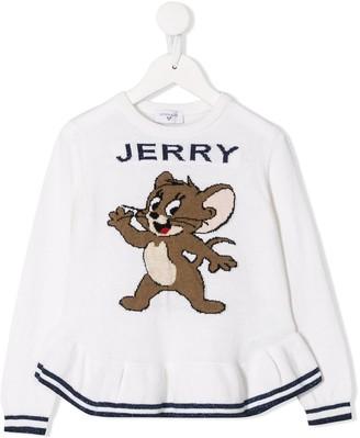 MonnaLisa Jerry ruffled hem jumper