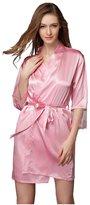 Bella Bridal Fashion Womens Faux Silk Lace Robe nightwear, short