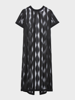 DKNY Sheer Jacquard Lace Tunic With Open Back