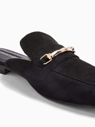 Topshop Lopez Backless Loafers - Black