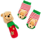 Disney Winnie the Pooh Holiday Rattle & Sock Gift Set for Baby