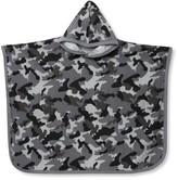 M&Co Grey camo print poncho towel