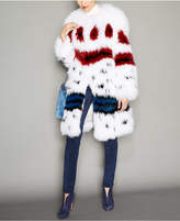 The Fur Vault Printed Fox Fur Coat