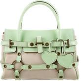 Luella Leather-Trimmed Gisele Bag