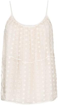 Chloé Bohemian Silk Lace Cami
