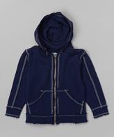 Flap Happy Navy Zip-Up Hoodie - Infant Toddler & Boys
