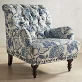 Pier 1 Imports Chas Indigo Blue Floral Armchair