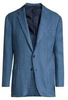 Deconstructed Houndstooth Cotton Blazer
