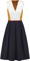 Raoul Madison belted cotton-blend midi dress