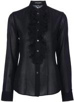 Dolce & Gabbana ruffle placket shirt