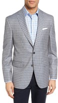 David Donahue Men's Connor Classic Fit Check Wool Sport Coat