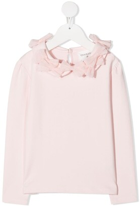Charabia Tulle Bow Applique Top