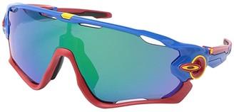 Oakley Jawbreaker (Snapback Blue w/ PRIZM Jade) Sport Sunglasses