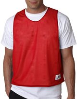 Badger Sport Lacrosse Reversible Tank Top - 8560 - Red / White - L/XL