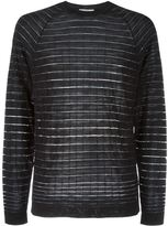 Versace striped jumper - men - Acrylic/Polyamide/Wool - M