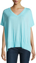 Diane von Furstenberg Honey V-Neck Dolman Sweater, Azure Blue