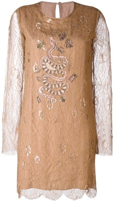 Ash Ruby lace embroidered dress