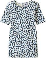 Petit Bateau Flower Print Dress (Toddler/Kid) - Blue/White - 5