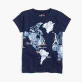J.Crew Girls' glitter world map T-shirt