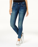 Rampage Juniors' Chloe Curvy Studded Skinny Ankle Jeans