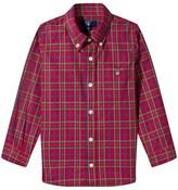 Gant Red Tartan Check Oxford Shirt