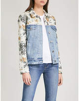 Paige Harrison denim and tapestry jacket