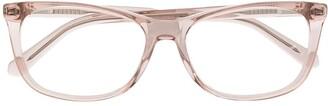 Love Moschino Rectangular Framed Glasses