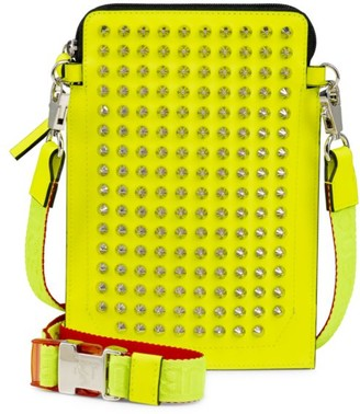 Christian Louboutin Loubilab Neon Spiked Leather Case