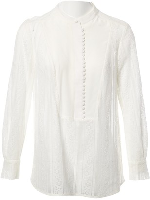 Erdem White Lace Top for Women