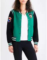 Maje Mat knitted bomber jacket