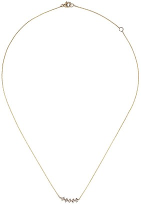 Dana Rebecca Designs 14kt yellow gold Millie Ryan princess cut diamond small curve necklace