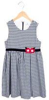Florence Eiseman Girls' Flower-Embellished Plaid Dress w/ Tags