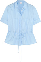 Iris and Ink Gathered cotton-poplin shirt