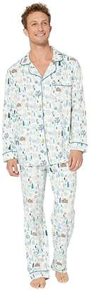 Bedhead Pajamas Long Sleeve Classic Pajama Set (Cabin In the Woods) Men's Pajama Sets