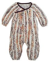 Burt's Bees Baby® Organic Cotton Chevron Print Wrap-Style Bubble Coverall in Ivory
